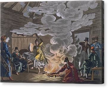 Shaman Of The Theliot Tatars, 1812-13 Canvas Print by E. Karnejeff