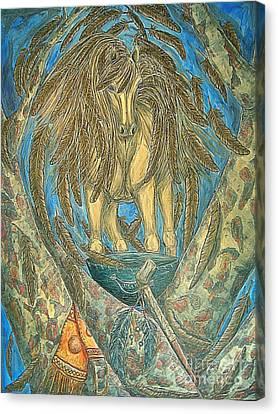Shaman Spirit Canvas Print by Kim Jones