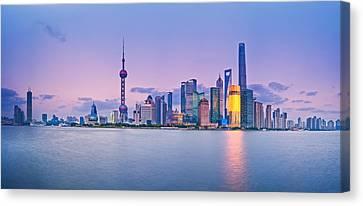 Shanghai Pudong Skyline  Canvas Print by Ulrich Schade