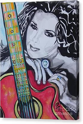 Shania Twain Canvas Print by Chrisann Ellis