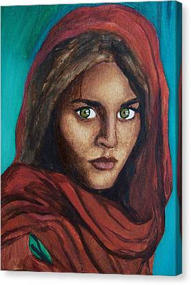 Sharbat Gula Canvas Print by Amber Stanford