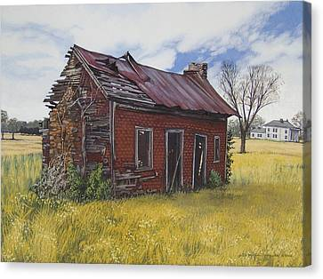 Sharecroppers Shack Canvas Print by Peter Muzyka