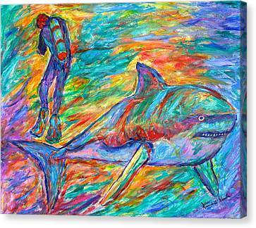 Shark Beauty Canvas Print by Kendall Kessler