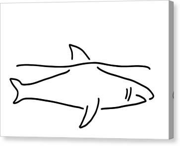 Shark Shark Fish Fin Sea Canvas Print by Lineamentum