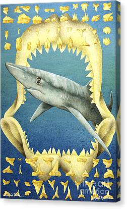Sharks Truth... Canvas Print by Will Bullas