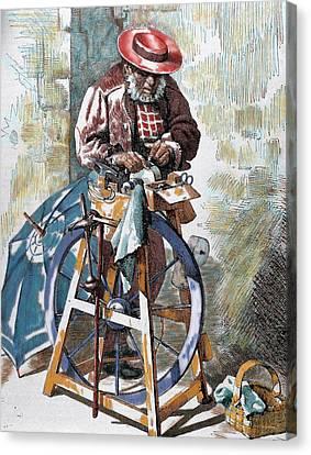 Sharpener Street Canvas Print by Prisma Archivo