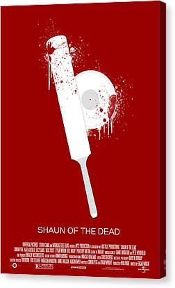 Shaun Of The Dead Custom Poster Canvas Print by Jeff Bell