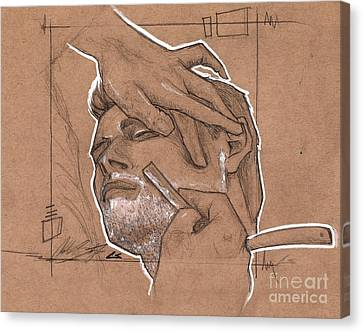 Shave Therapy Canvas Print by Charles Edwards