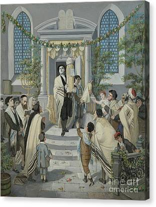 Shavuot - Pentecost Canvas Print by Celestial Images