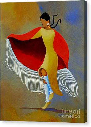Shawl Dancer Canvas Print by Ainsley McNeely