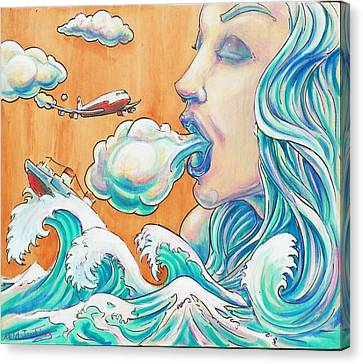 She Blows Canvas Print by Reid Jenkins