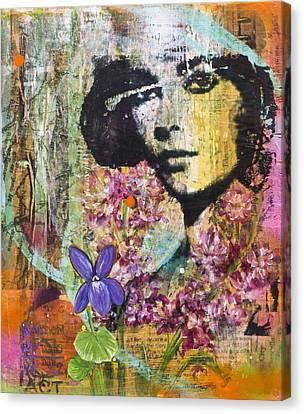 She Had Violet Eyes Canvas Print by Andrea LaHue aka Random Act