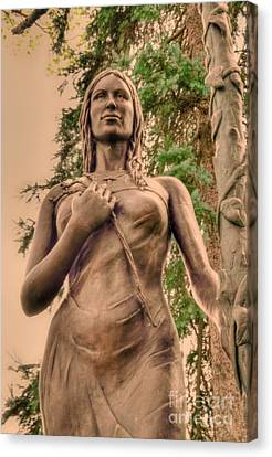 She Holds Her Cross Canvas Print by Kathleen Struckle