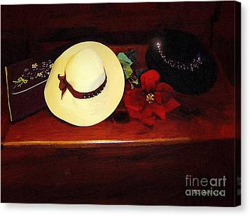 She Loved Hats Canvas Print by RC DeWinter