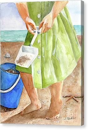 She Sells Sea Shells Canvas Print by Sheryl Heatherly Hawkins