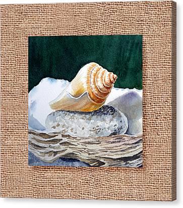 She Sells Seashells Decorative Design Canvas Print by Irina Sztukowski