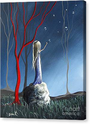 She Whispers Her Dreams By Shawna Erback Canvas Print by Shawna Erback