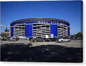 Shea Stadium - New York Mets Canvas Print by Frank Romeo