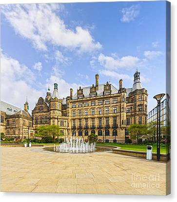 Sheffield Town Hall And Fountain Canvas Print by Colin and Linda McKie