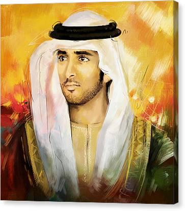 Sheikh Hamdan Bin Mohammed Canvas Print by Corporate Art Task Force