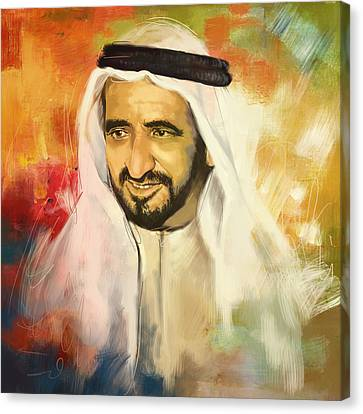 Sheikh Rashid Bin Saeed Al Maktoum Canvas Print by Corporate Art Task Force