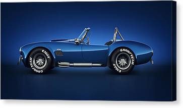 Shelby Cobra 427 - Water Snake Canvas Print by Marc Orphanos