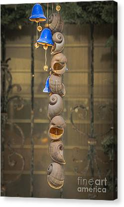 Shell And Bell Wind Chime - Hdr Style Canvas Print by Ian Monk