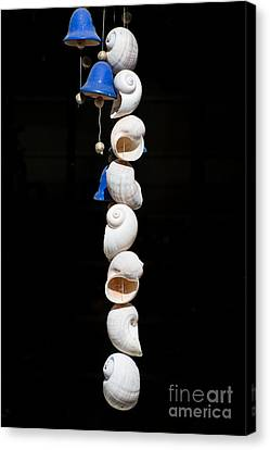 Shell And Bell Wind Chime Canvas Print by Ian Monk