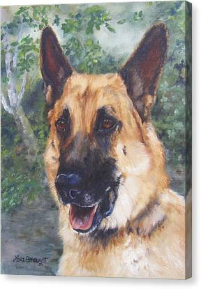 Shep Canvas Print by Lori Brackett