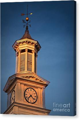 Shepherd University - Mcmurran Clock Tower At Twilight Canvas Print by Julia Springer