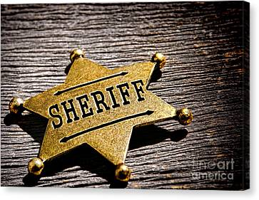 Sheriff Badge Canvas Print by Olivier Le Queinec