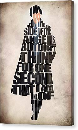 Sherlock - Benedict Cumberbatch Canvas Print by Ayse Deniz