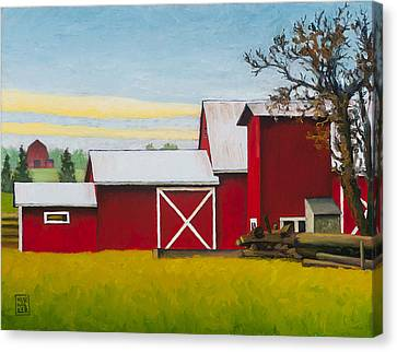 Sherman Squash Farm Canvas Print by Stacey Neumiller
