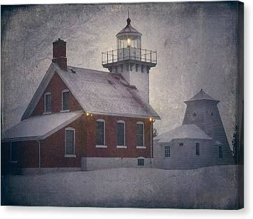 Sherwood Point Light Canvas Print by Joan Carroll