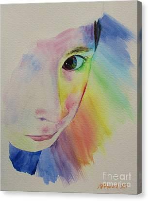 She's A Rainbow Canvas Print by Martin Howard