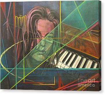 She's Got The Blues Canvas Print by Eva Berman