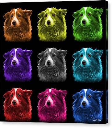Shetland Sheepdog Dog Art 9973 - Bb - M Canvas Print by James Ahn