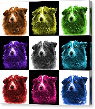 Shetland Sheepdog Dog Art 9973 - V2 - M Canvas Print by James Ahn