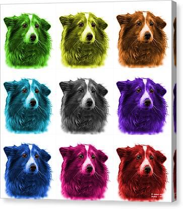 Shetland Sheepdog Dog Art 9973 - Wb - M Canvas Print by James Ahn
