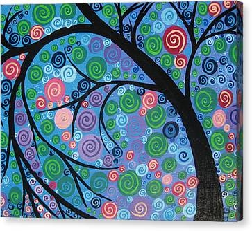 Shimmer Tree Canvas Print by Cathy Jacobs