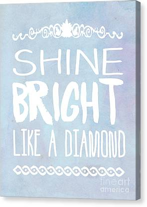 Shine Bright Blue Canvas Print by Pati Photography