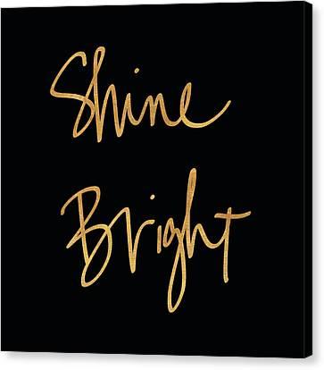 Shine Bright On Black Canvas Print by South Social Studio