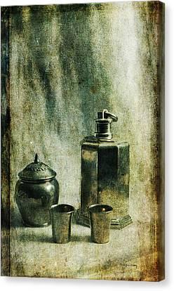 Shiny Armor Canvas Print by Randi Grace Nilsberg