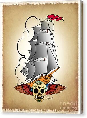 Ship 3 Canvas Print by Mark Ashkenazi