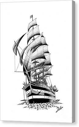 Ship Canvas Print by Joker Gallery