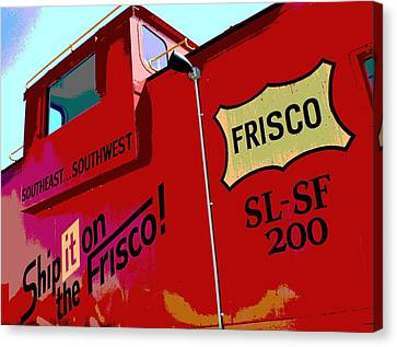 Ship It On The Frisco Canvas Print by Deena Stoddard