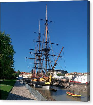 Ship Replica Of The Count De La Fayette Canvas Print by Panoramic Images