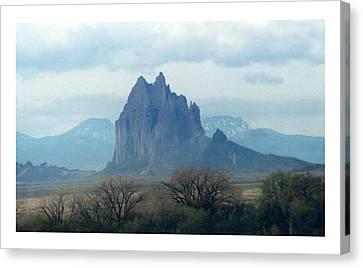 Shiprock  Mystical Mountain New Mexico Canvas Print by Jack Pumphrey