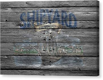 Shipyard Brewing Canvas Print by Joe Hamilton