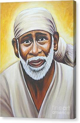 Shirdi Sai Baba Canvas Print by Gayle Utter